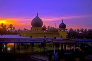 senja di masjid simpang empat permatang buloh - syawal 1426H